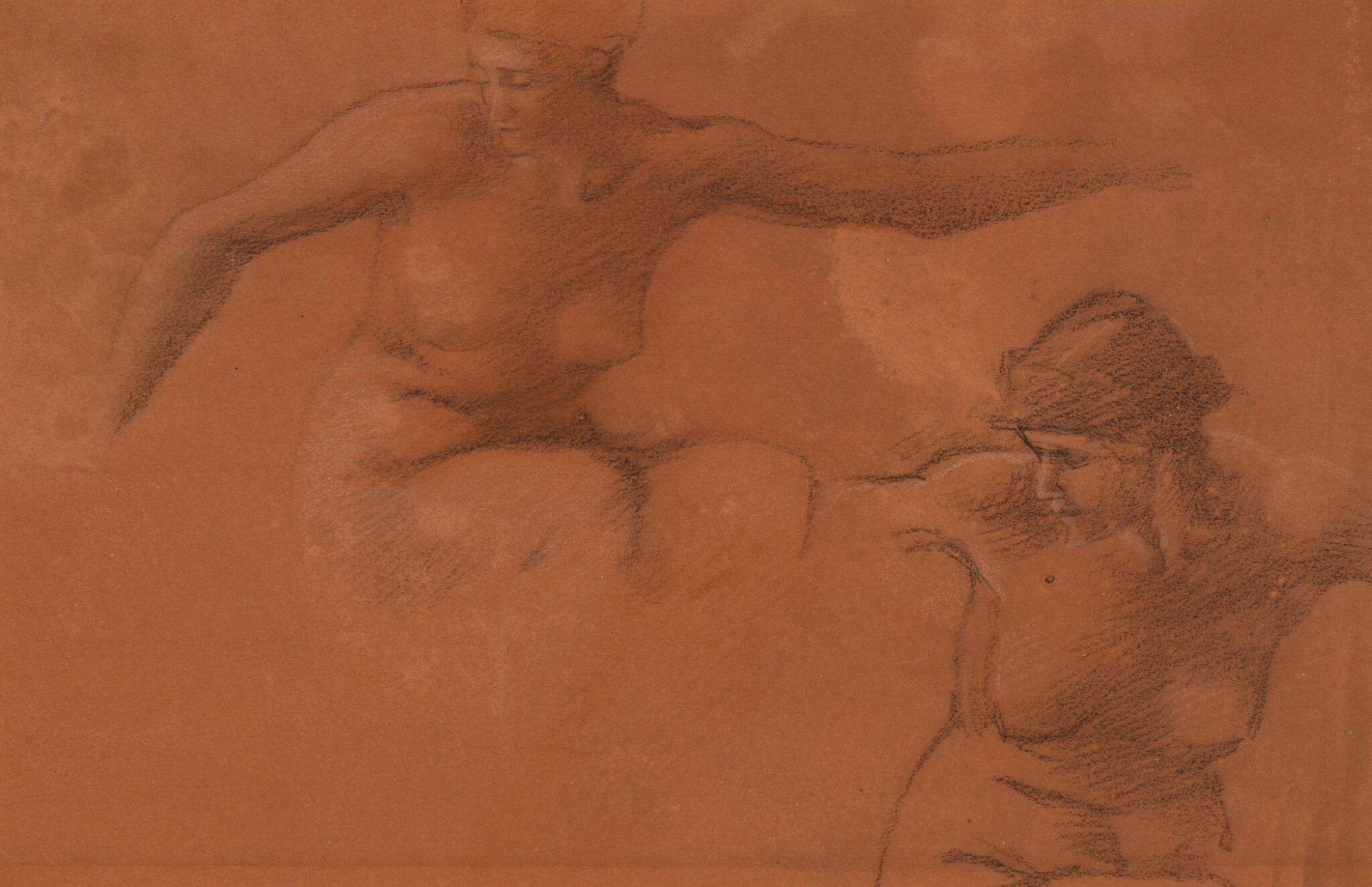 View full screen - View 1 of Lot 18. Figure Studies for Perseus and the Graiae.