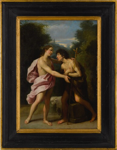 View 3. Thumbnail of Lot 42. The Meeting of Christ and Saint John the Baptist.