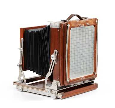 View 3. Thumbnail of Lot 9. Large format Studio Camera of Paolo Roversi, L.F. Deardroff & Sons Wood Field.