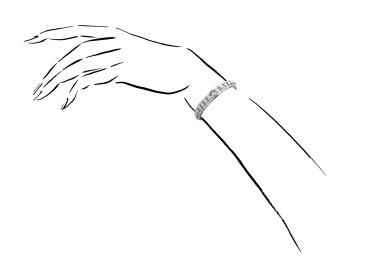 View 4. Thumbnail of Lot 1225. Diamond bracelet.