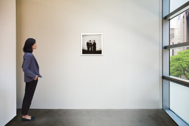 View 2. Thumbnail of Lot 11. DIANE ARBUS | 'FOUR PEOPLE AT A GALLERY OPENING, N.Y.C.'.