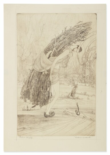 View 3. Thumbnail of Lot 1802. ABDUR RAHMAN CHUGHTAI | KASHMIRI WOODCUTTER; DUPTA (SIC).
