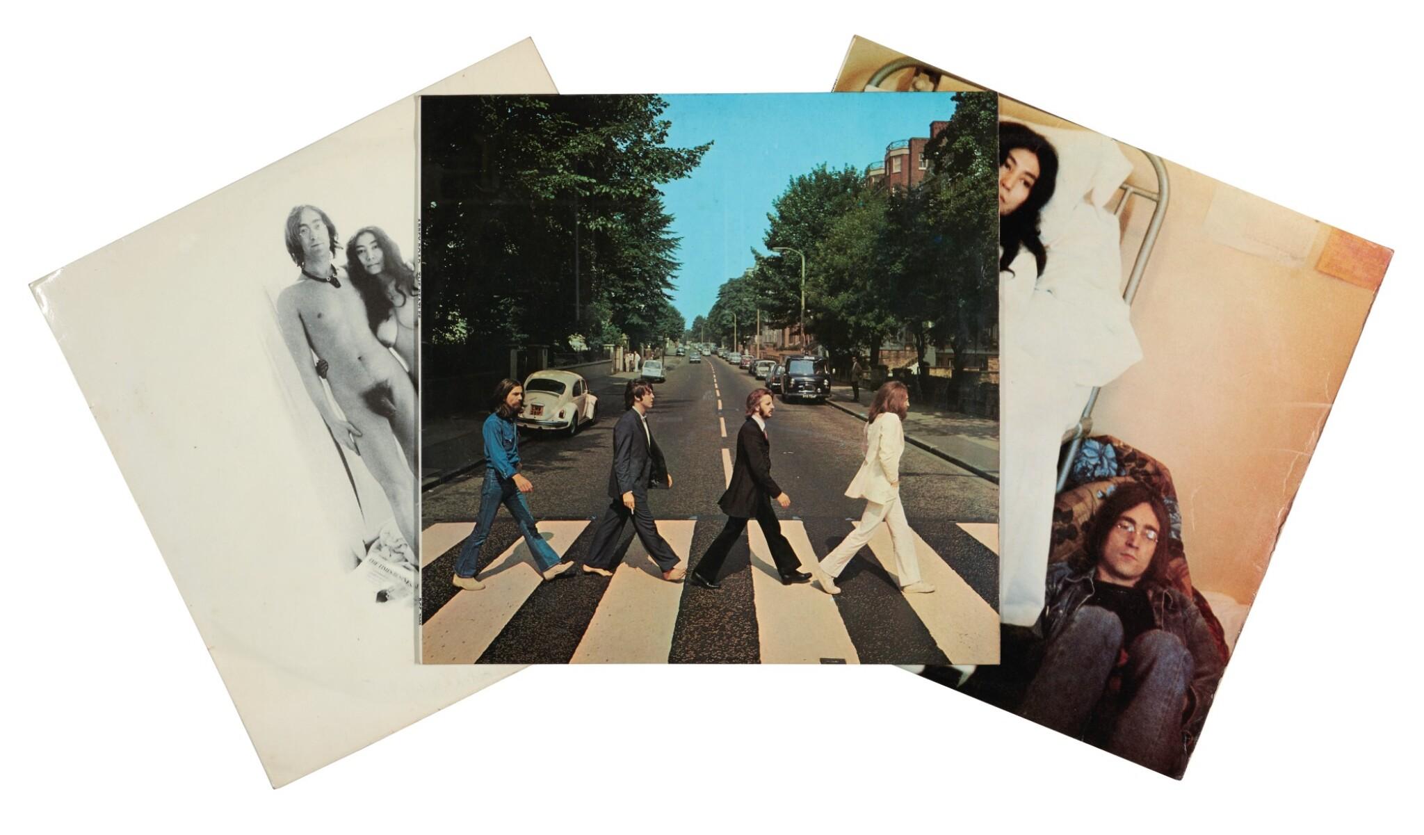 THE BEATLES, JOHN LENNON AND YOKO ONO   Three first pressings, 1968-1969