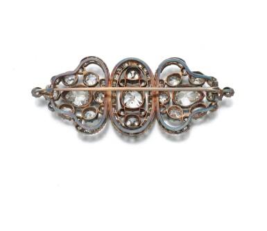 View 4. Thumbnail of Lot 3. Diamond brooch (Spilla in diamanti), 1880.