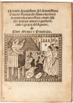 St Bernard, Sermoni devotissimi, Venice, 1502, modern crushed black morocco