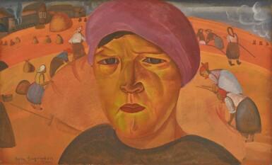 View 1. Thumbnail of Lot 59. BORIS DMITRIEVICH GRIGORIEV | Russian Peasant Woman .