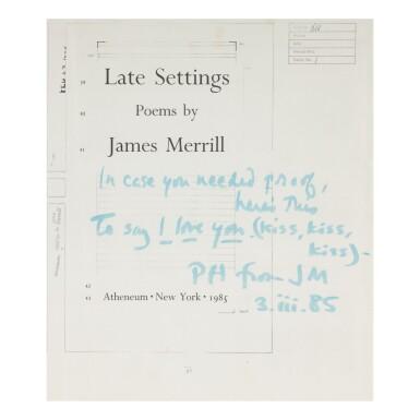 JAMES MERRILL | LATE SETTINGS. NEW YORK: ATHENEUM, 1985