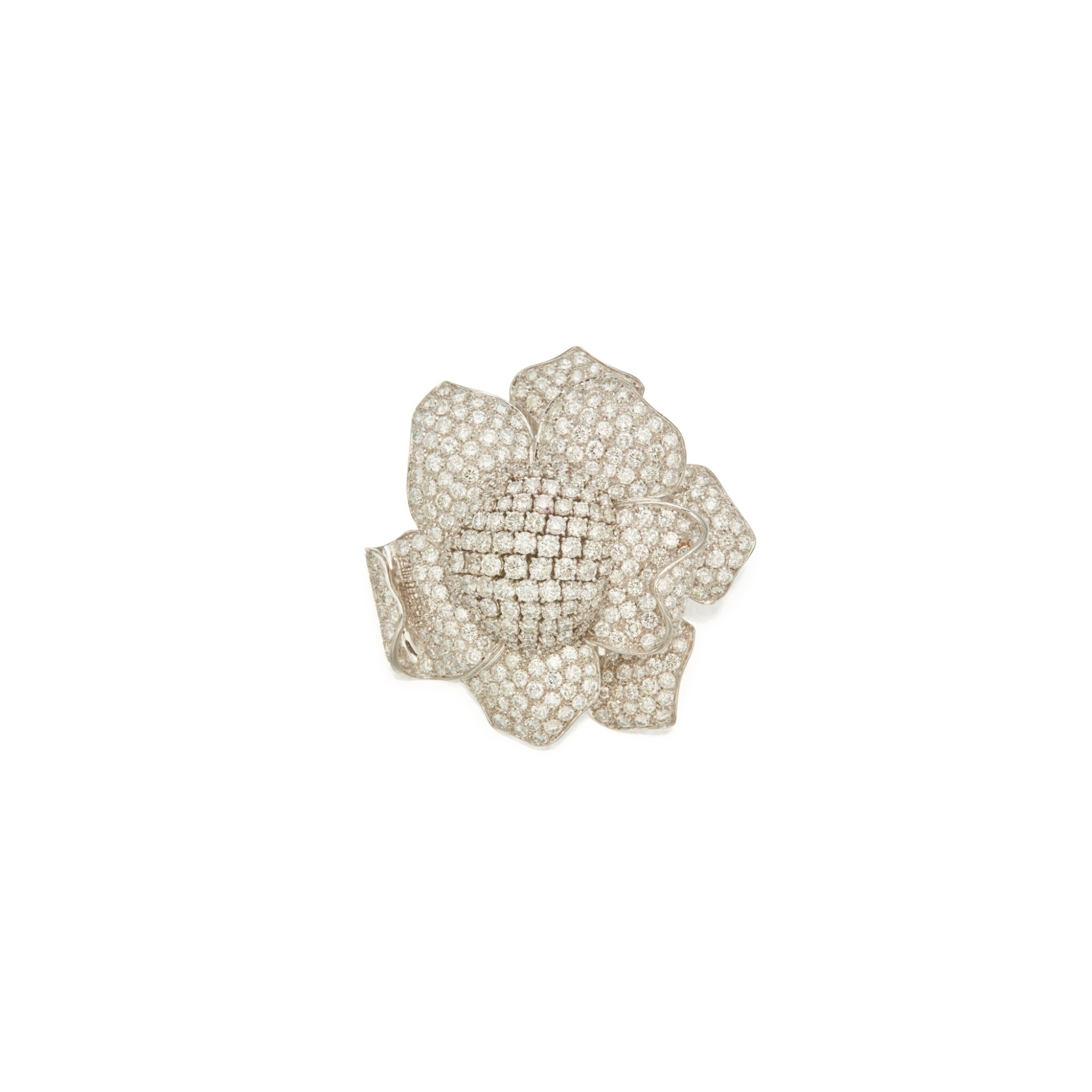 View full screen - View 1 of Lot 406. Diamond Clip-Brooch.