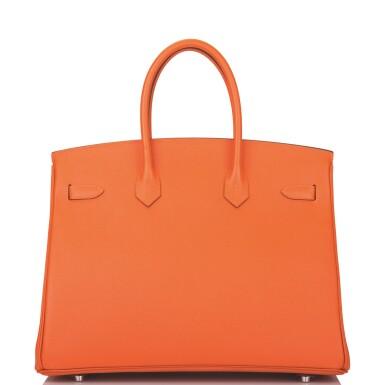 Hermès Feu Birkin 35cm of Epsom Leather with Palladium Hardware