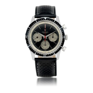 View 1. Thumbnail of Lot 1158.  UNIVERSAL GENÈVE |  COMPAX, REF 22703/2   STAINLESS STEEL CHRONOGRAPH WRISTWATCH   CIRCA 1970.