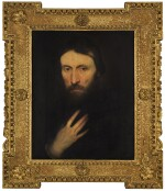 FOLLOWER OF SIR ANTHONY VAN DYCK | Portrait of a gentleman, head and shoulders, his right arm upon his breast