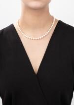 Cultured pearl and diamond necklace [Collier perles de culture et diamants]