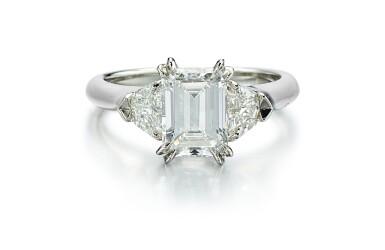 View 1. Thumbnail of Lot 9146. DIAMOND RING, HARRY WINSTON   1.71卡拉 方形 E色 VVS2淨度 鑽石 戒指, 海瑞溫斯頓 ( Harry Winston ).