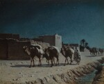 PAUL LAZERGES | CAMEL TRAIN BY MOONLIGHT