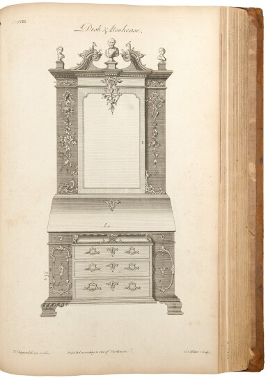 View 4. Thumbnail of Lot 33. Thomas Chippendale. The Gentleman and Cabinet-Maker's Director: London: 1762.