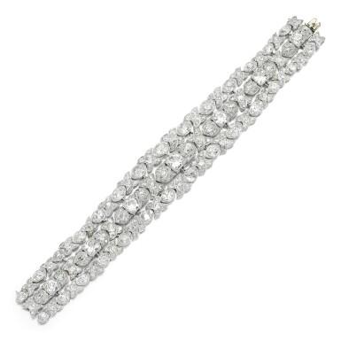View 2. Thumbnail of Lot 17. Diamond bracelet, circa 1925.