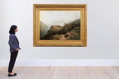View 4. Thumbnail of Lot 205. A Mountain Landscape .
