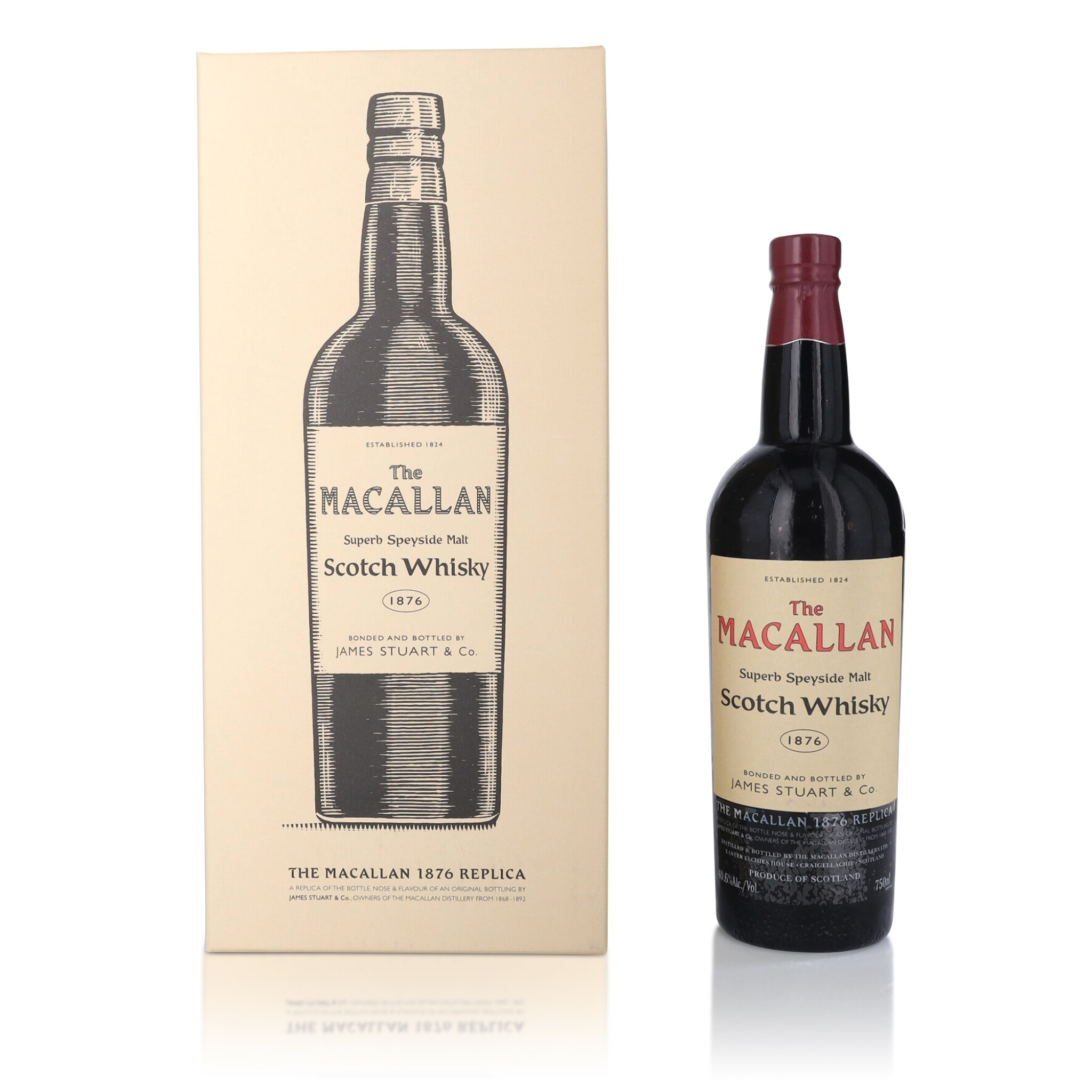 View full screen - View 1 of Lot 35. The Macallan 1876 Replica 40.6 abv NV (1 BT75).