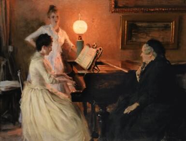 ALBERT EDELFELT   Au piano