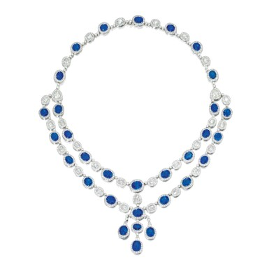 SAPPHIRE AND DIAMOND NECKLACE | 藍寶石配鑽石項鏈