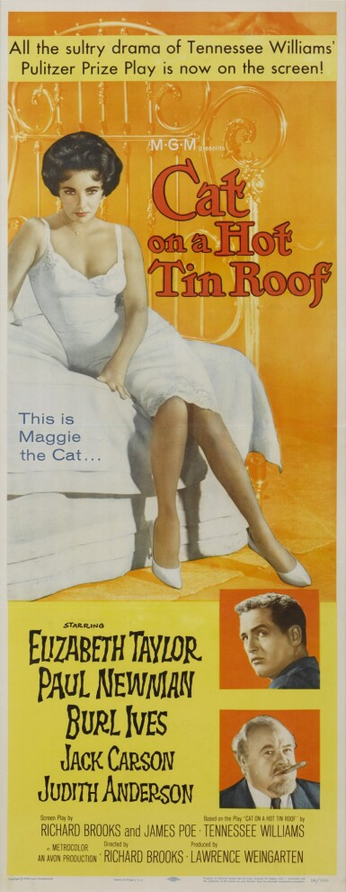 CAT ON A HOT TIN ROOF (1958) POSTER, US