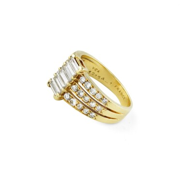 View 2. Thumbnail of Lot 80. Van Cleef & Arpels, Diamond ring [Bague diamants].