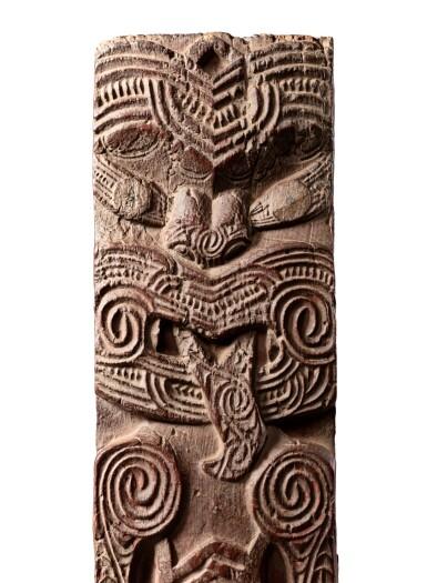 View 3. Thumbnail of Lot 188. Panneau Poupou, Maori, Nouvelle-Zélande | Poupou panel, Maori, New Zealand.