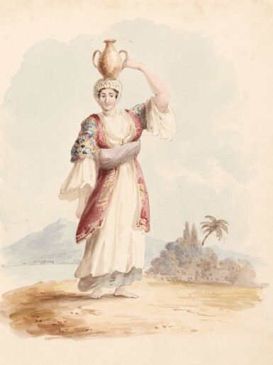View 4. Thumbnail of Lot 119. William Page (1794-1872) | Album of 58 watercolours of Turkish, Greek, Swiss and Italian views and figure studies.