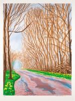 DAVID HOCKNEY | THE ARRIVAL OF SPRING IN WOLDGATE, EAST YORKSHIRE IN 2011 - 1 APRIL