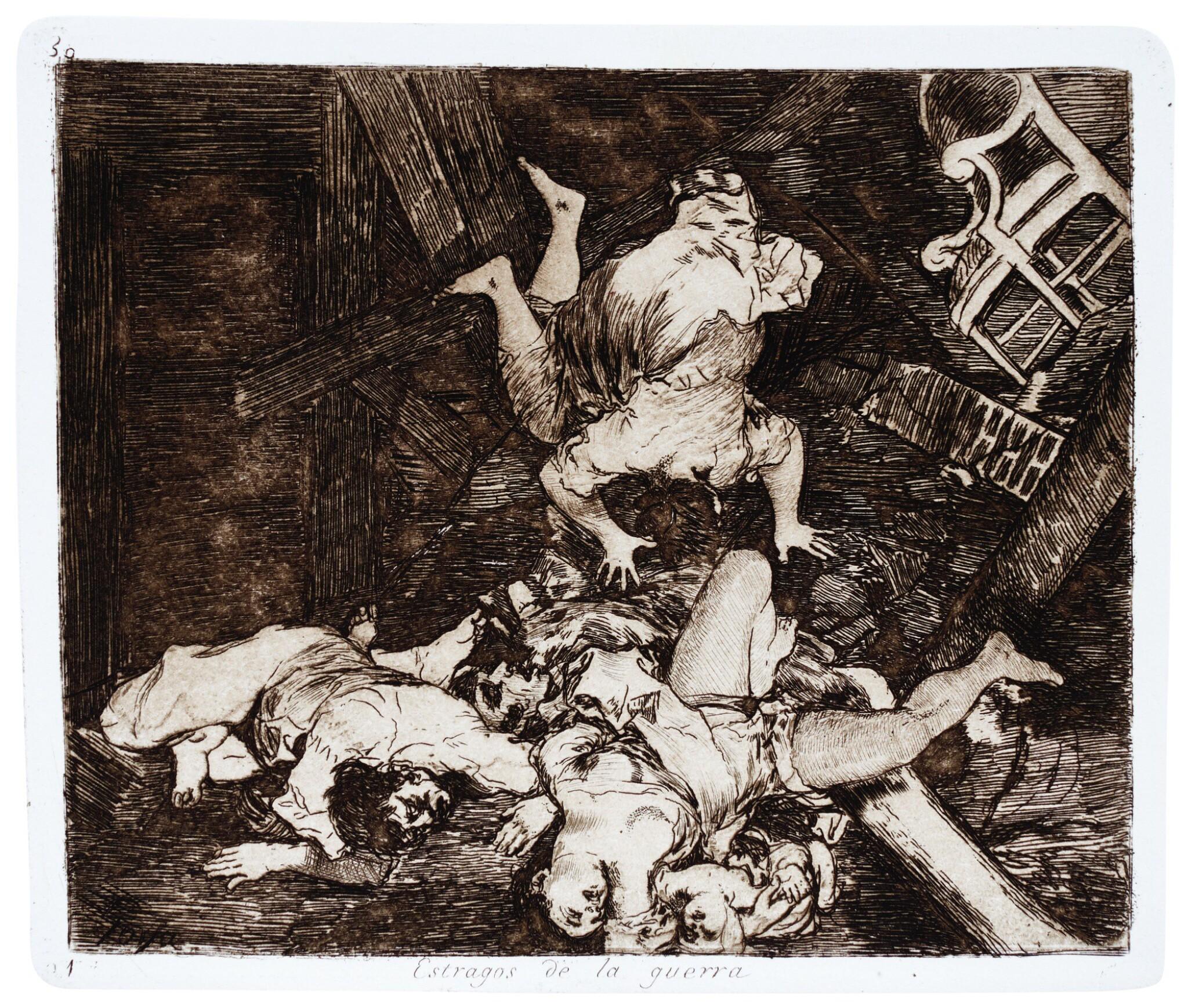View 1 of Lot 195. Goya, Los desastres de la guerra, Madrid, 1892, later cloth-backed boards.