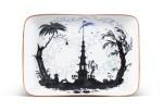 The Nightingale: a rare Soviet porcelain platter, State Porcelain Factory, Petrograd, 1922