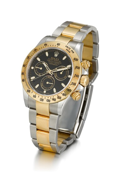 View 2. Thumbnail of Lot 8. ROLEX |  COSMOGRAPH DAYTONA, REFERENCE 116523, A YELLOW GOLD AND STAINLESS STEEL CHRONOGRAPH WRISTWATCH WITH BRACELET, CIRCA 2012.