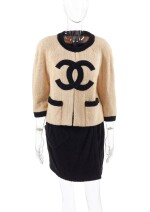 CHANEL | TERRY CLOTH JACKET AND SKIRT