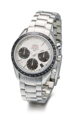 OMEGA   SPEEDMASTER PANDA 1957, REFERENCE 323.30.40.40.02.001  A LIMITED EDITION STAINLESS STEEL CHRONOGRAPH WRISTWATCH WITH DATE AND BRACELET, MADE FOR THE JAPANESE MARKET, CIRCA 2015