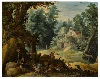 View 1. Thumbnail of Lot 17. The Temptation of Saint Anthony   《聖安東尼的試探》.
