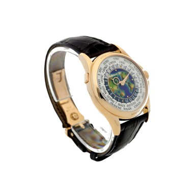 View 3. Thumbnail of Lot 59. REFERENCE 5131R-011 A FINE PINK GOLD AUTOMATIC WORLD TIME WRISTWATCH WITH CLOISONNE ENAMEL DIAL, CIRCA 2017.