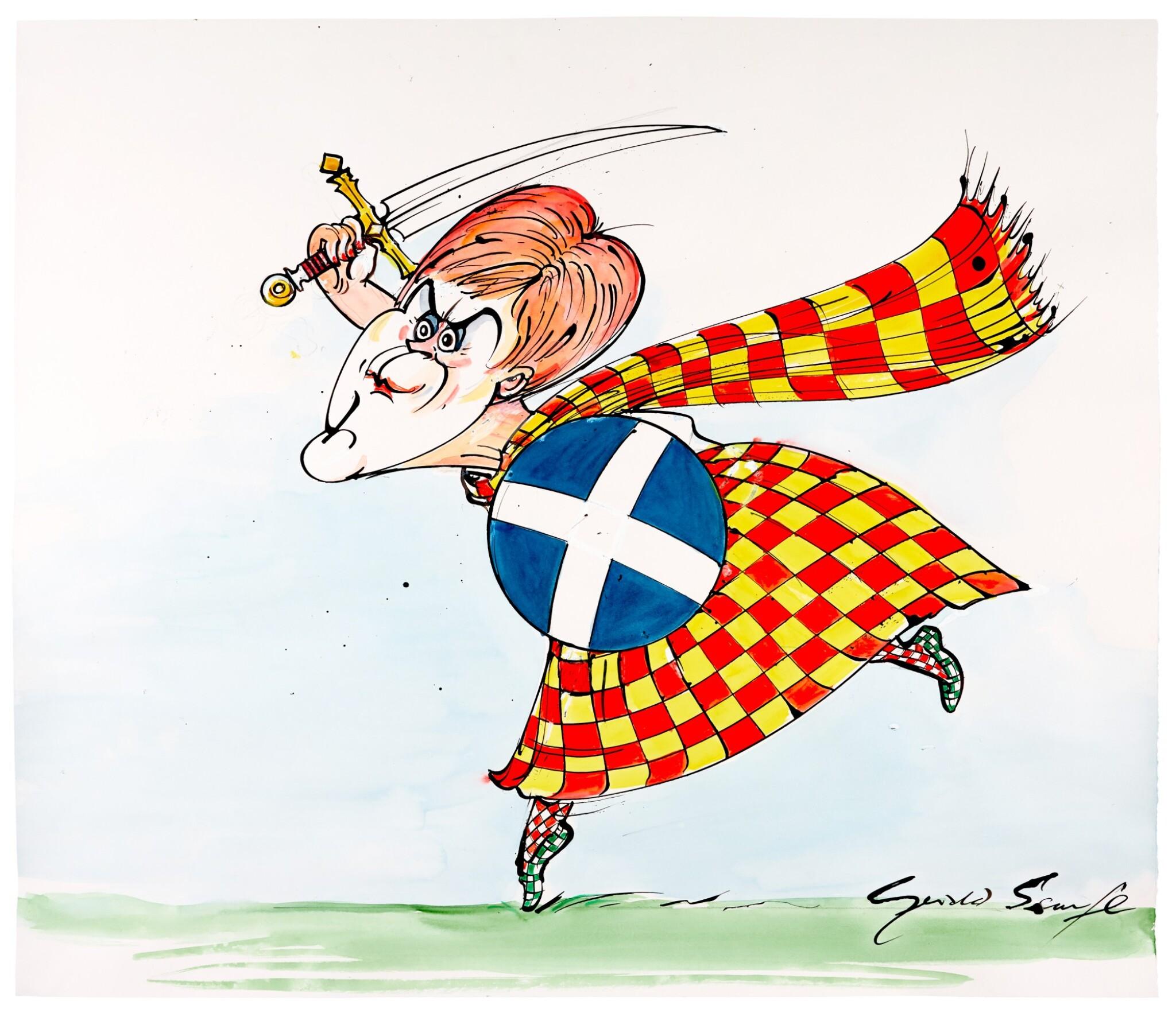 "SCARFE | [THE 2010s] | ""Scotland The Brave"" [Nicola Sturgeon]"