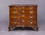 THE PUTNAM FAMILY VERY FINE CHIPPENDALE FIGURED MAHOGANY REVERSE-SERPENTINE CHEST OF DRAWERS, BOSTON, MASSACHUSETTS, CIRCA 1785