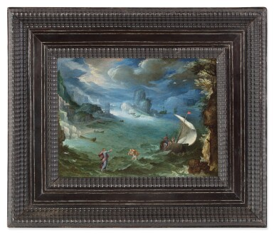 View 3. Thumbnail of Lot 138. PAUL BRIL  |  COASTAL LANDSCAPE WITH THE CALLING OF SAINT PETER.