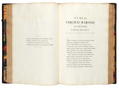 View 1. Thumbnail of Lot 260. Vergil, Opera, Parma, Bodoni, 1793, 2 volumes, half black morocco.