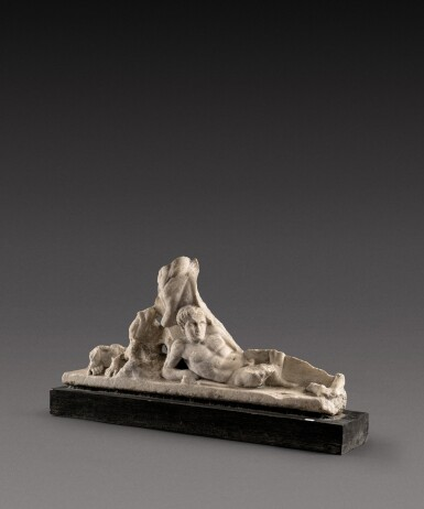 View 1. Thumbnail of Lot 89. A Roman Marble Centauromachy Sarcophagus Fragment, circa mid 2nd Century A.D..