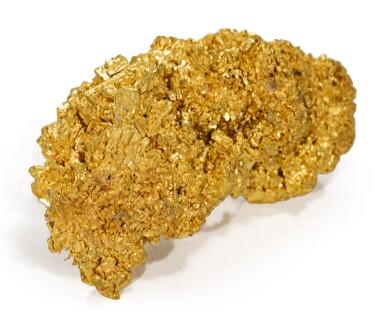 A CRYSTALLINE GOLD SPECIMEN