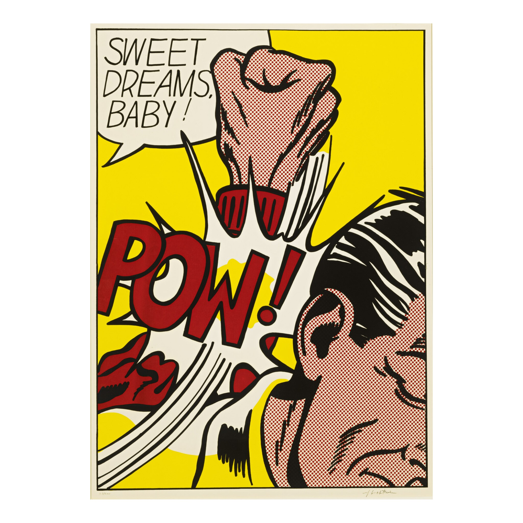 View full screen - View 1 of Lot 2. ROY LICHTENSTEIN | SWEET DREAMS, BABY! (C. 39).