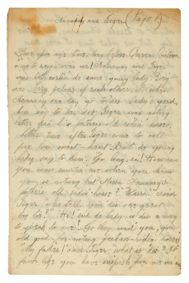 View 2. Thumbnail of Lot 98. PAMELA SMITH   15 autograph letters signed, with related manuscripts, 1891-1900.