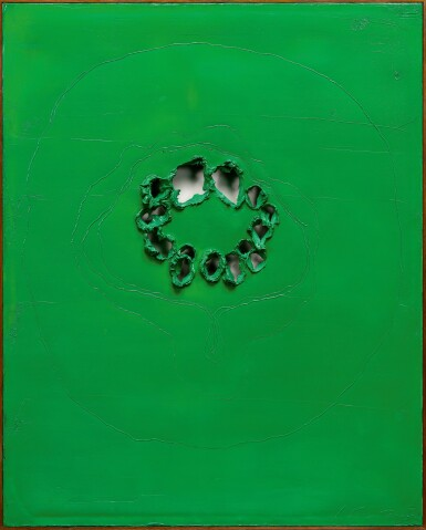 View 2. Thumbnail of Lot 31. LUCIO FONTANA   CONCETTO SPAZIALE.