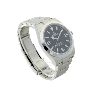 View 3. Thumbnail of Lot 98. ROLEX   REFERENCE 214270 EXPLORER A STAINLESS STEEL AUTOMATIC WRISTWATCH, CIRCA 2019.