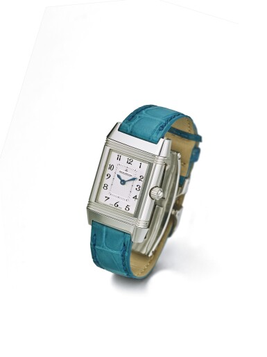 View 2. Thumbnail of Lot 65. JAEGER-LECOULTRE   REVERSO DUETTO REF 266.8.11 A LADY'S STAINLESS STEEL AND DIAMOND SET REVERSIBLE RECTANGULAR WRISTWATCH WITH MOTHER OF PEARL DIAL CIRCA 2005.