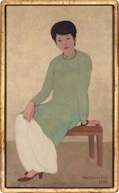 View 1. Thumbnail of Lot 1026. Mai Trung Thu 梅忠恕 | Portrait de Mademoiselle Phuong 芳小姐的肖像.