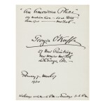 GEORGIA O'KEEFFE | COLLECTION OF O'KEEFFE GALLERY CATALOGUES, 1917–1958