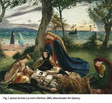 View 5. Thumbnail of Lot 22. JAMES ARCHER   SIR LAUNCELOT AND QUEEN GUINEVERE.